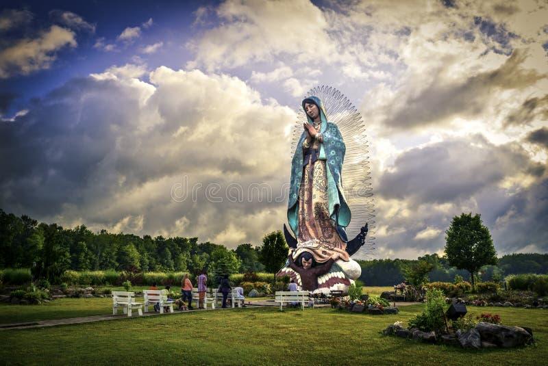 Unsere Dame von Guadalupe, Mutter Mary stockbilder