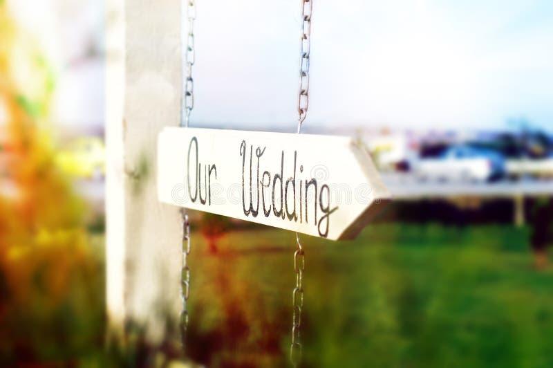 Unsere Hochzeit stockfoto