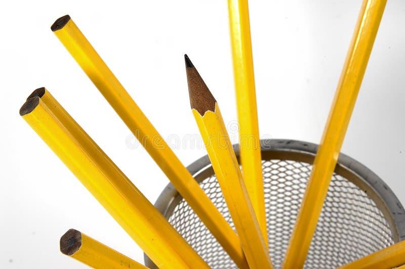 Unsharpened Bleistifte lizenzfreie stockbilder