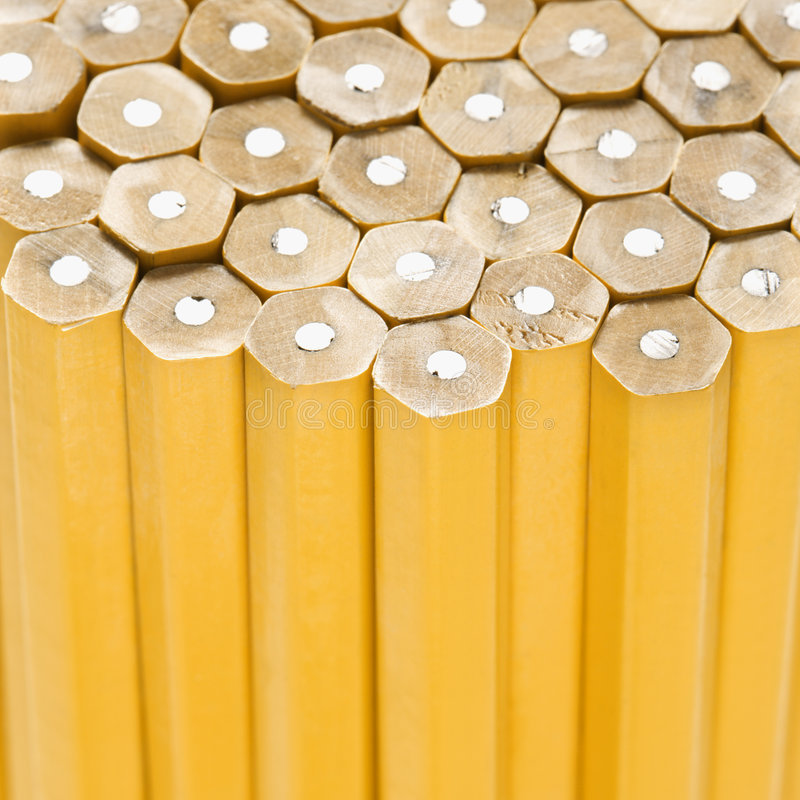 Unsharpened pencils. stock photography