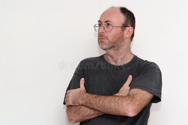Download Unshaved Disheveled Man Frown Stock Image - Image: 18523161