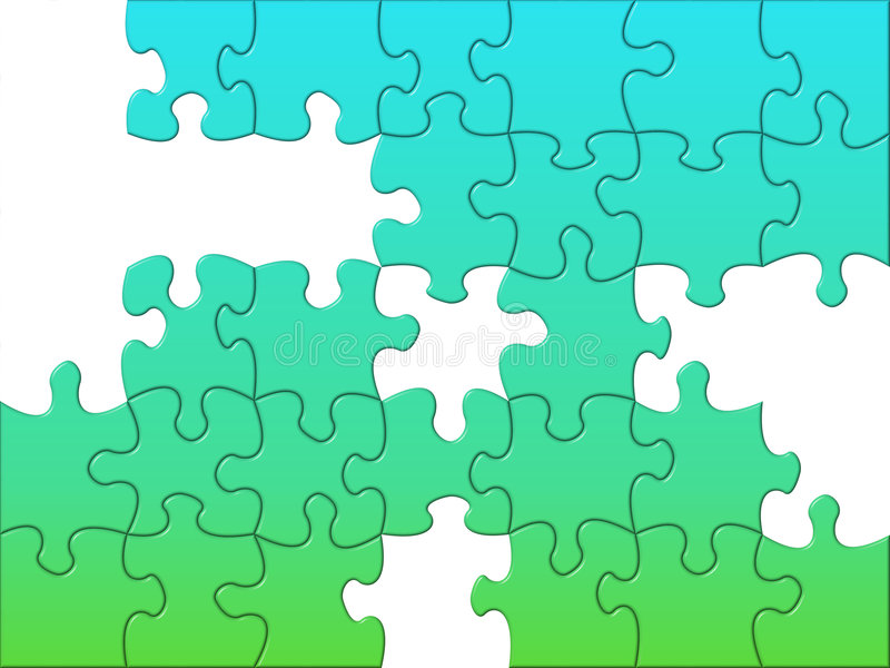 Unsolved puzzle stock illustration