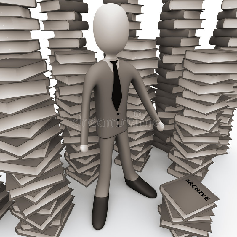 Download Unsorted Archive stock illustration. Image of corporate - 2825992