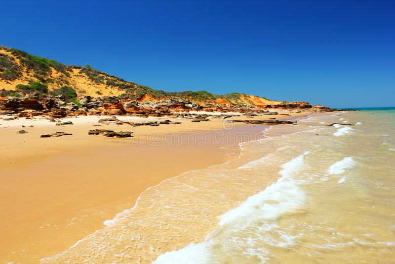 Unspoiled plaża, zachodnia australia obraz royalty free