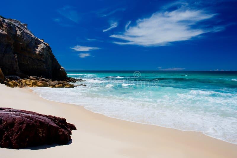 unspoilt strand arkivfoto