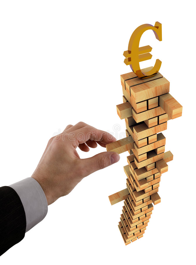 Unstable Euro stock photo