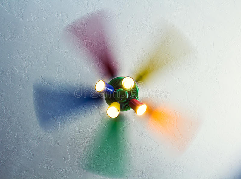 Download Unstoppable rainbow fan stock photo. Image of decor, ceiling - 33948392