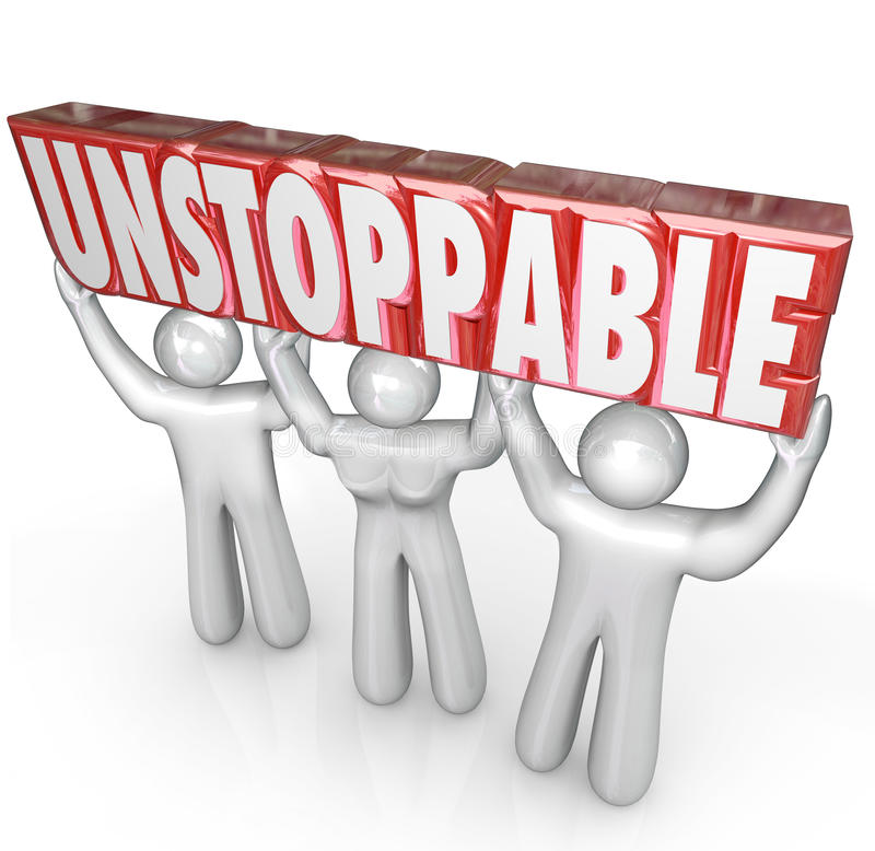 Download Unstoppable Team Lifting Word No Limits Determination Stock Illustration - Illustration: 32599359
