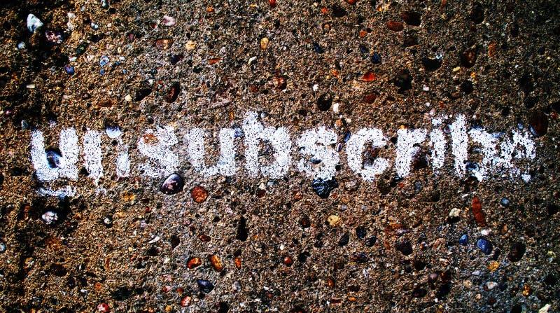Unsubscribe grafittis imagens de stock royalty free