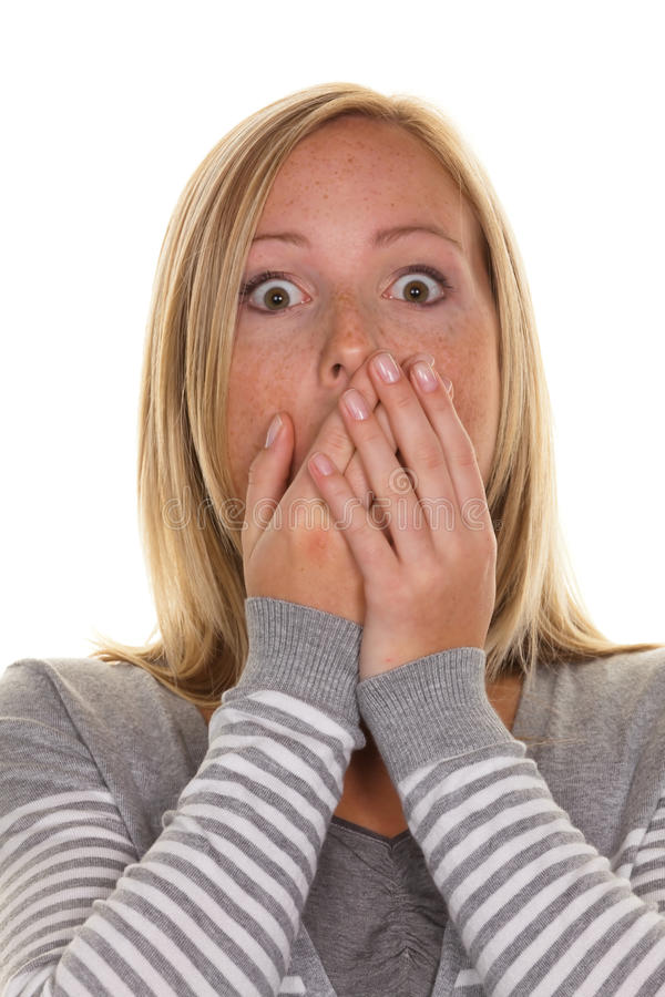 Free Unsuspecting Woman Is Stunned Royalty Free Stock Photos - 21118458