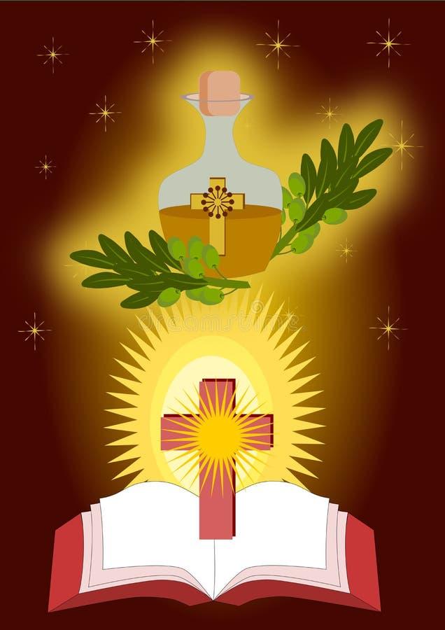 Untar dos sacramentos doentes ilustração stock