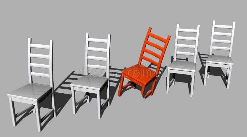 Untauglicher Roter Stuhl Stock Abbildung Illustration Von