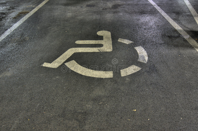 Untaugliches Auto-Parken-Zeichen lizenzfreie stockbilder