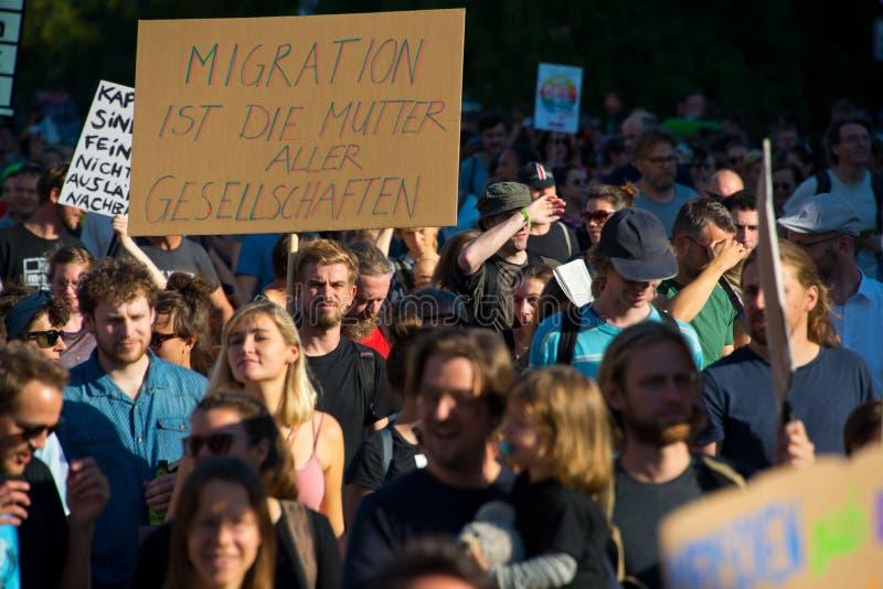 -unteilbar demonstracja w Berlin, Germany zdjęcia stock