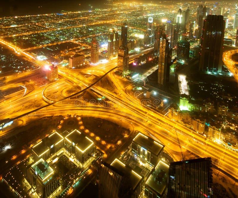 Unten Stadt Von Dubai Stockbilder