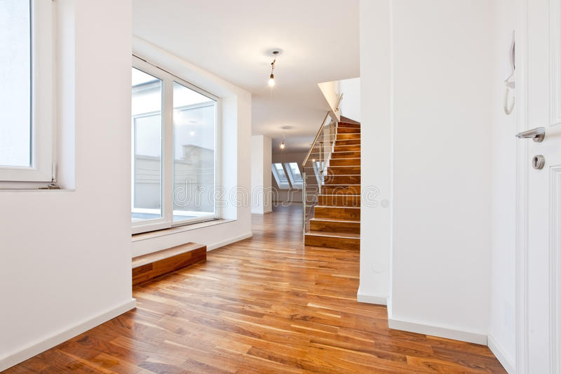 Untenanted apartment in Contemporary archit royalty free stock photography