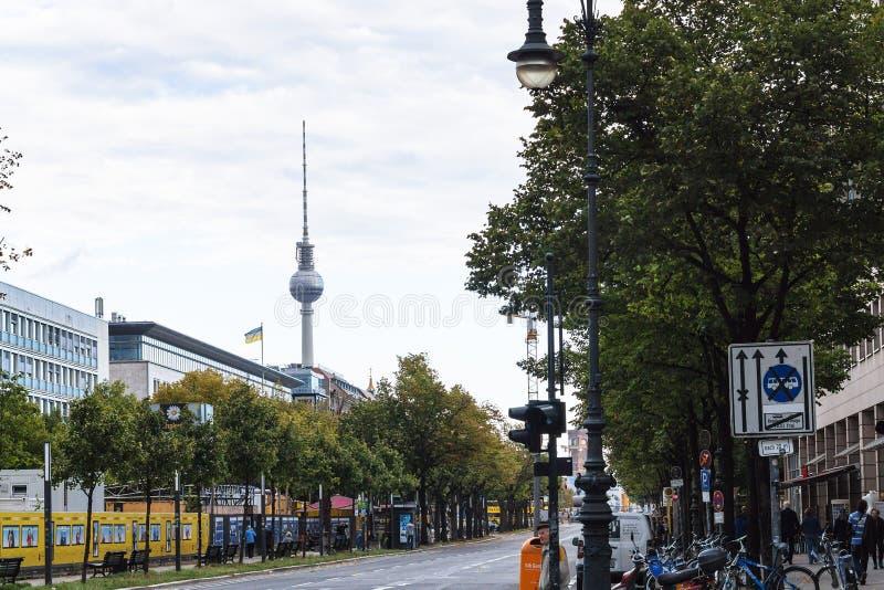 Unter小室菩提树大道在柏林市 库存图片