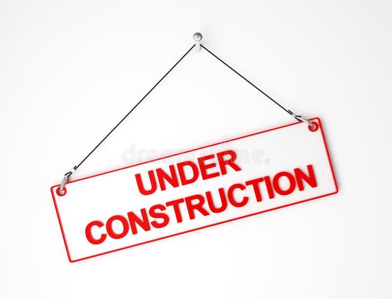 Unter construcrion lizenzfreie abbildung