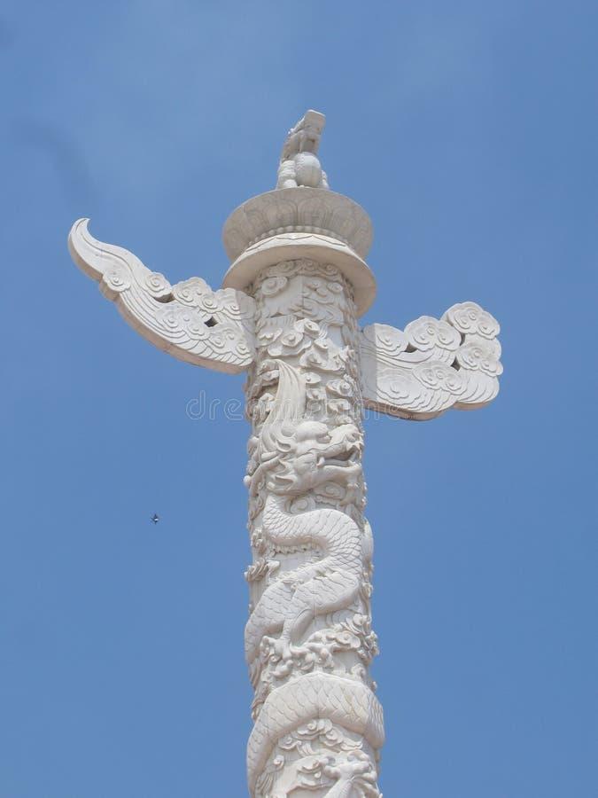 Unter dem blauer Himmel stehenden huabiao lizenzfreie stockfotos