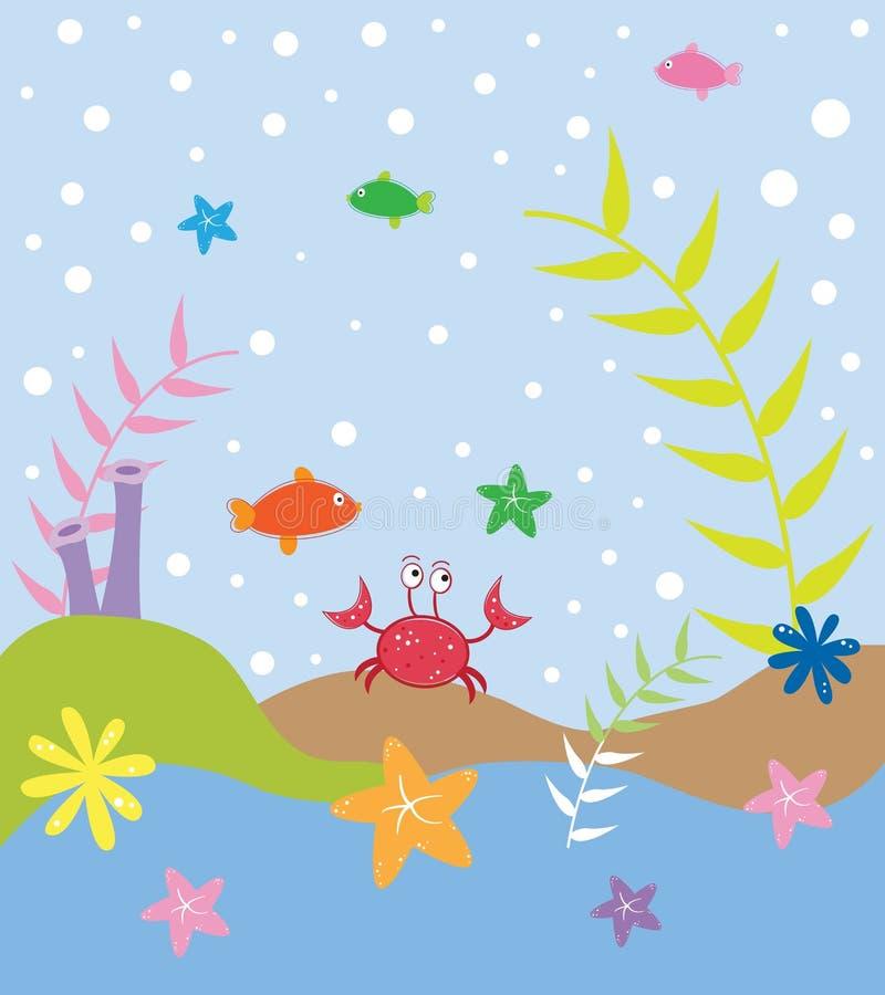Unter dem Meer stock abbildung