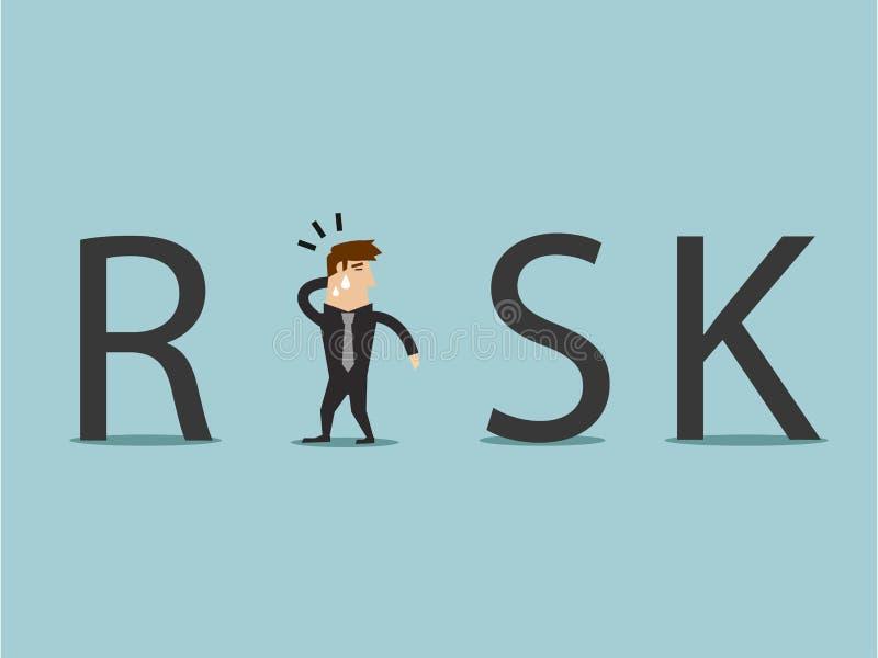 Unter dem Risiko Vektorgraphik lizenzfreie stockbilder