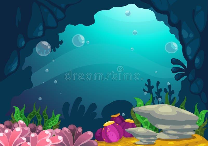 Unter dem Seehintergrund lizenzfreie abbildung