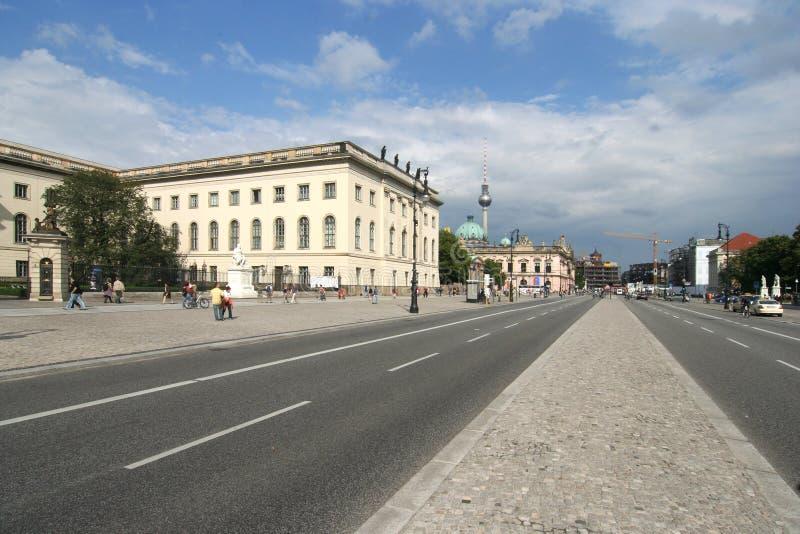 Unter den Linden. Berlin, Unter den Linden, with Humboldt University on the left royalty free stock images
