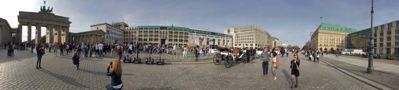 Unter den Linden avenue panorama, Berlin royalty free stock images