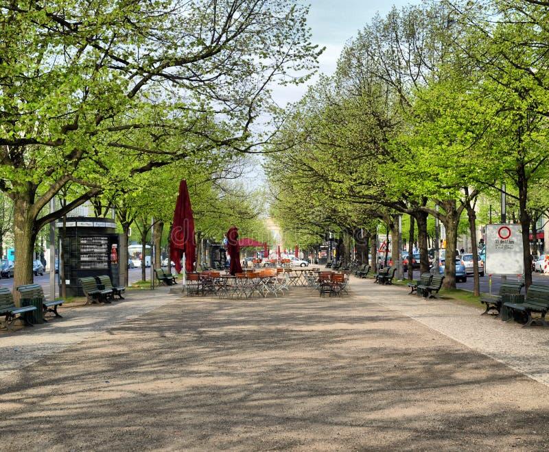 Unter den Linden, Berlin. Unter den Linden boulevard in Berlin, Germany - high dynamic range HDR stock photography