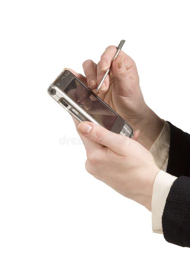 Unter Verwendung PDA lizenzfreie stockfotos