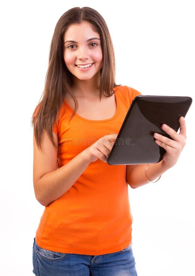 Unter Verwendung Tablette Computers oder iPad stockbilder