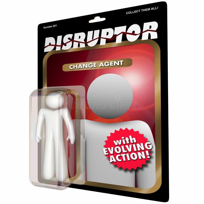 Unterbrecherscheiben-Änderungs-Vertreter Action Figure Disruption vektor abbildung