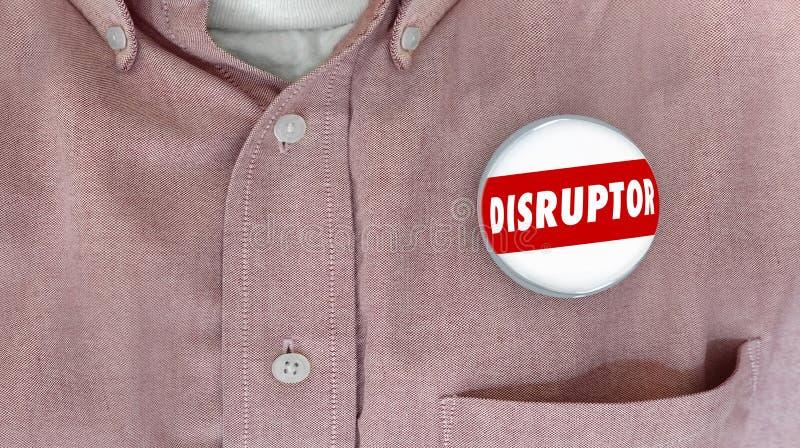 Unterbrecherscheiben-Knopf Pin Change Agent Innovator stock abbildung
