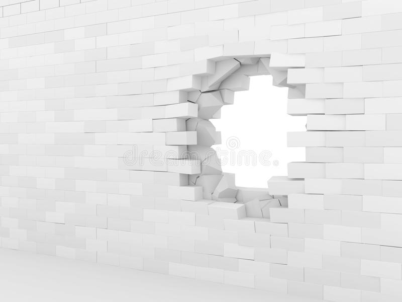 Unterbrochene Backsteinmauer stock abbildung