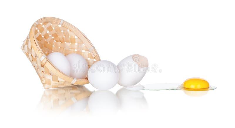 Unterbrochene Eier lizenzfreies stockfoto