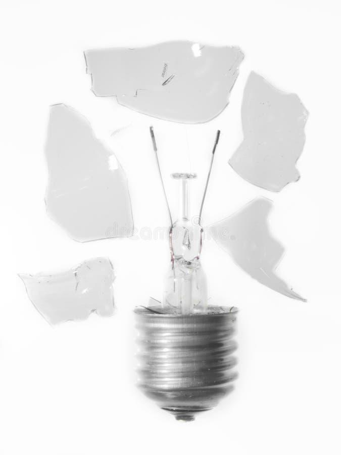 Unterbrochene Glühlampe lizenzfreie stockfotos