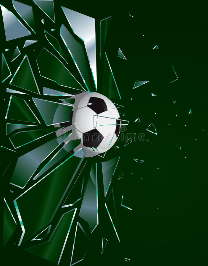 Unterbrochene Glasfußball-Kugel 2 stock abbildung