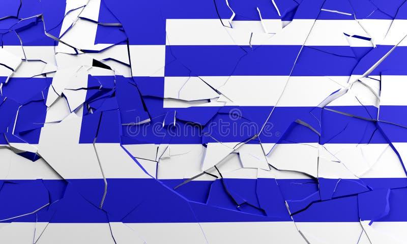 Unterbrochene griechische Markierungsfahne lizenzfreie abbildung