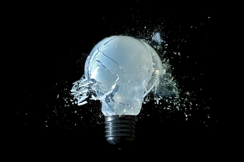 Unterbrochene Lampe lizenzfreie stockbilder