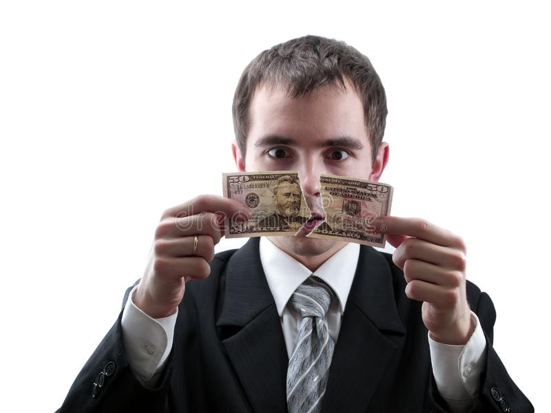 Defekter Dollar lizenzfreies stockbild
