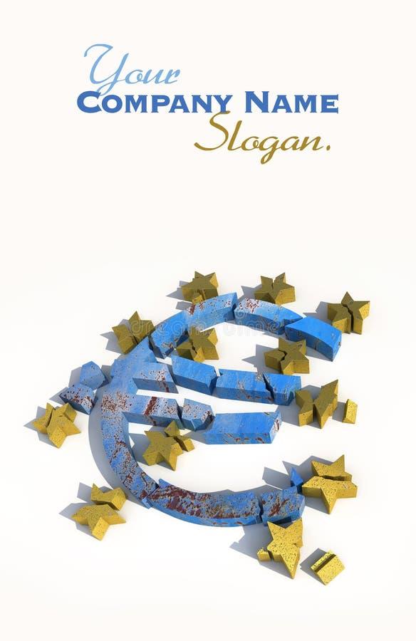 Unterbrochener Euro vektor abbildung