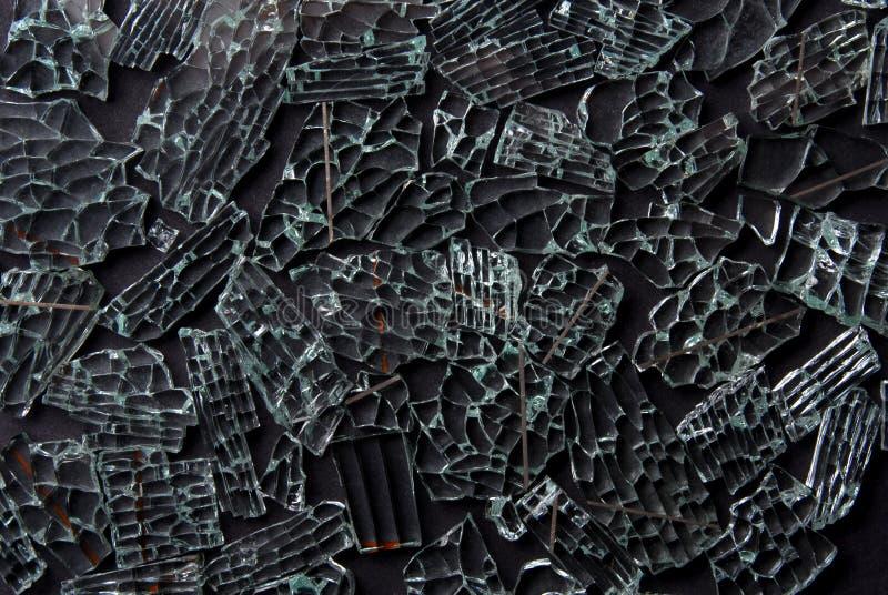 Unterbrochener Glashintergrund stockfotografie