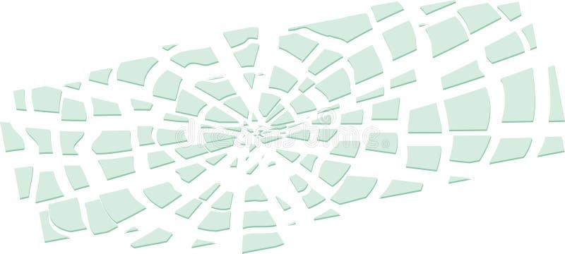 Unterbrochener Spiegel vektor abbildung
