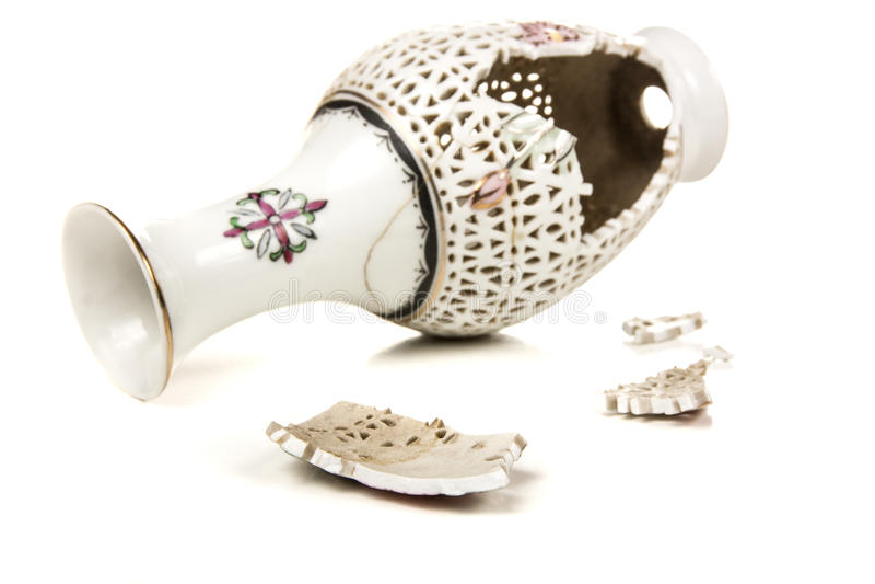 Unterbrochener Vase stockfoto