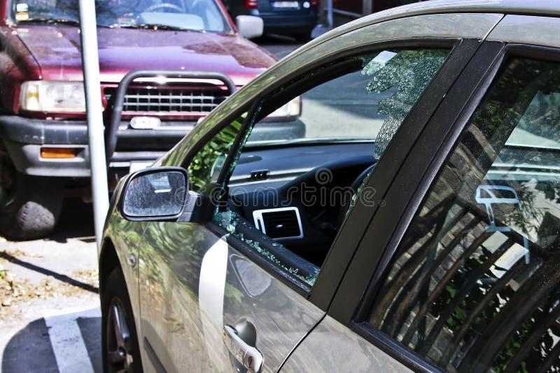 Unterbrochenes Fenster stockfoto