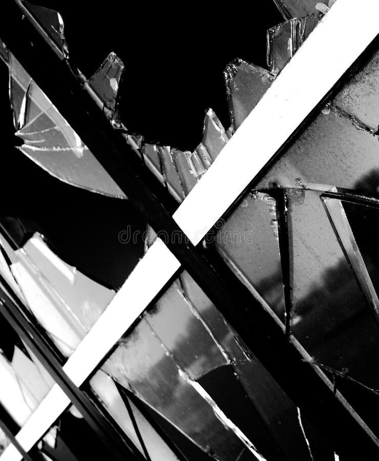 Unterbrochenes Fenster stockbild