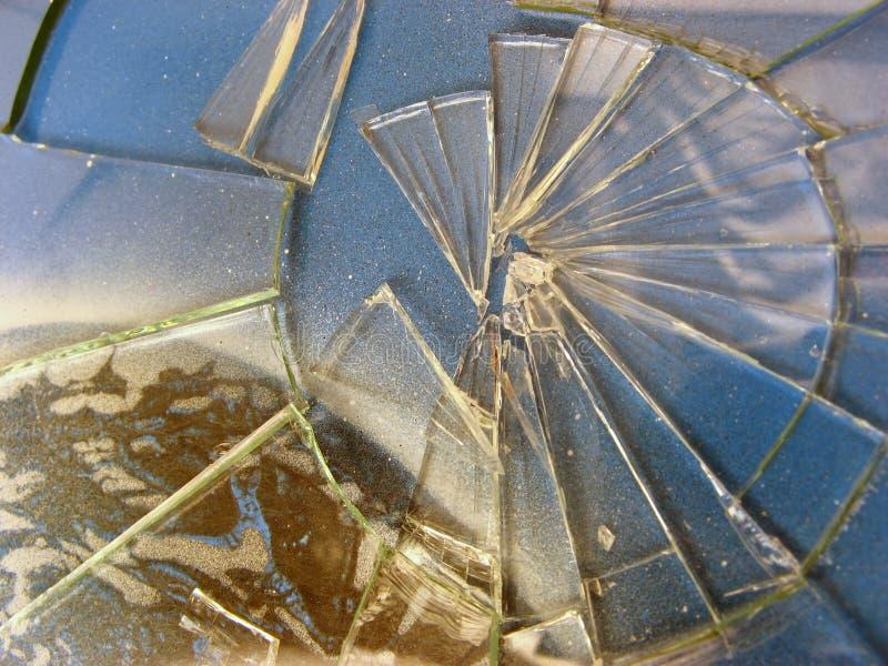 Unterbrochenes Glas stockbild