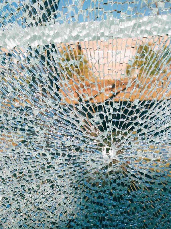 Unterbrochenes Glas stockfoto