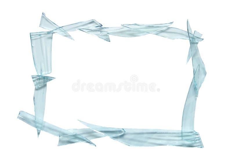 Unterbrochenes Glasfeld lizenzfreie stockfotografie