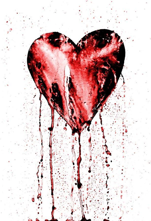 Unterbrochenes Inneres - blutendes Herz lizenzfreie abbildung